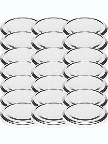 48 Twist-Off-Deckel Verschlüsse Ersatzdeckel Deckel für Sturzgläser Einmachgläser To 66 Passend für 70 /125 / 167 ml (Silber) (Twist-verschluss)