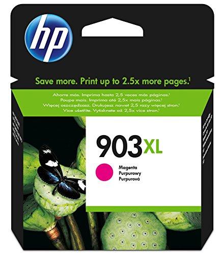 HP 903XL - Cartucho de tinta para impresoras (alto, compatible con OfficeJet Pro 6960 AiO/6970 AiO), magenta
