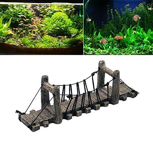 T.boys's Plastikpflanzen Aquarien und Terrarien Deko Höhle Aquarium, das dekorative Brücke landschaftlich gestaltet Baumstamm Holz Polyresin Landschaft (A)