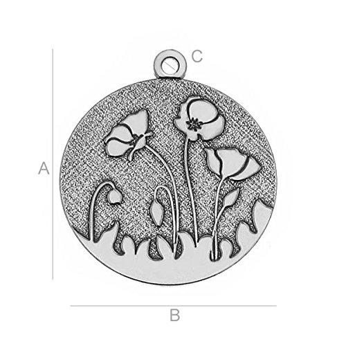 925Sterling Silber finden Mohn Charms-lk-043910PCS (Mohn Sterling Silber)