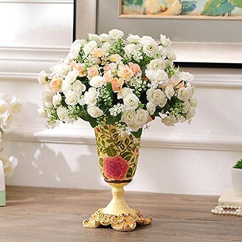 midtawer emulazione Fiore Vasi Country Salotto si parte processo in resina decorato regalo di matrimonio