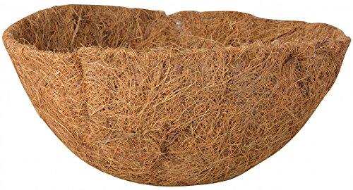 Esschert Design Ersatzeinlage Hanging Basket Ø 25 cm, Höhe 11 cm, Kokoseinlage, Hängekörbchen, Naturkorb
