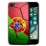 Stuff4 Coque Gel TPU de Coque pour Apple iPhone 7 / Portugal Design/Nations de...