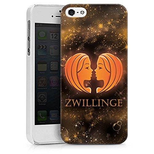 Apple iPhone X Silikon Hülle Case Schutzhülle Sternzeichen Zwillinge Esoterik Hard Case weiß