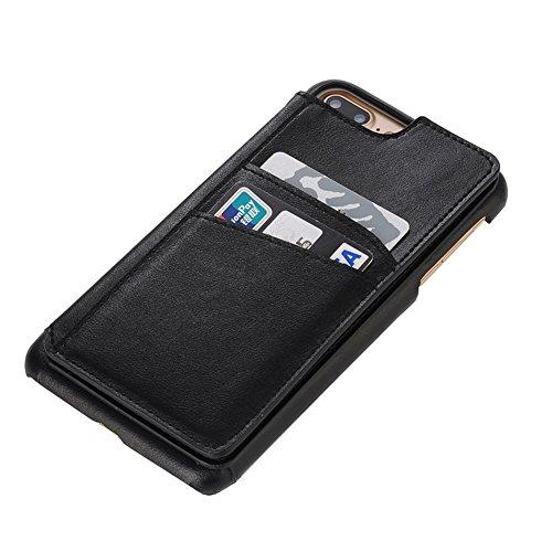 Cover per iPhone 7 Plus Portafoglio,Custodia per iPhone 8 Plus, Bonice Plaid Leather Flip Cover Copertura con Morbido Silicone Case e Porta carte di credito Con Supporto Borsa del Telefono Custodia in Modello 01