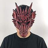 MSSJ Máscara de dragón Cosplay Traje de ala y Cola Juego de Tronos Purim Halloween Carnaval Disfraz de niños Decoración Disfraces AccesoriosColor Rojo