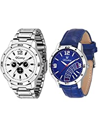 VIOMY 2G5005 Antique+Stylish Blue And White Dial With Dummy Chornography Watch For Men Watch - For Men