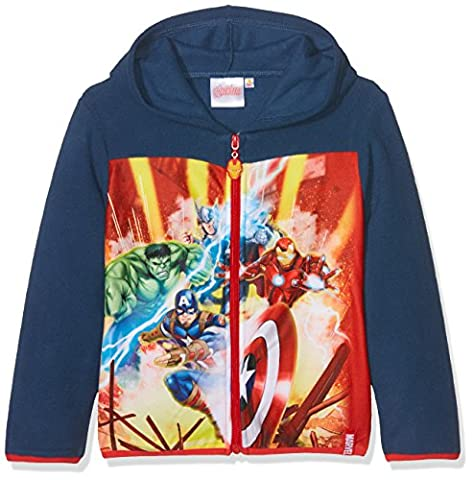 Marvel Avengers Hero Puller, Sweat-Shirt Garçon, Bleu, 9-10 Ans