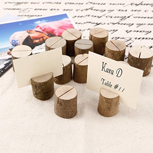50 x Holz Holzsteg Kartenhalter Platzkarte Tischkartenhalter Namesschild Fotohalter Hochzeit Deko - 5
