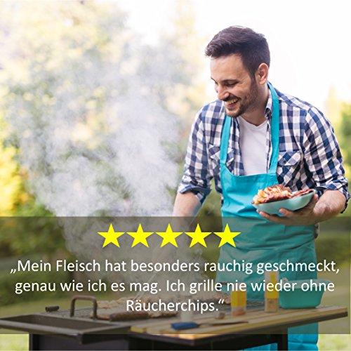 51Fk8ekbhsL - BBQ Räucherchips Mix für tolles Raucharoma beim Grillen - 100% natürliches Smoker-Holz | Ergiebige und sparsame wood chips (Apfel, Buche & Kirsche) für Stand- und Kugel-Grill sowie Smoker | 3 x 500g