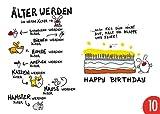 10er-Pack: Postkarte A6 +++ LUSTIG von modern times +++ ÄLTER WERDEN +++ ARTCONCEPT © ZANDER