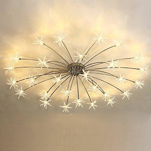 LOFAMI Moderne Luxus-LED energiesparende Glas Kronleuchter Star Kinderzimmer Decke 28 Lichter für Wohnzimmer Schlafzimmer Arbeitszimmer