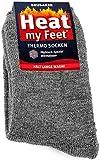 BRUBAKER Chaussettes thermiques 'Heat my Feet' - Lot de 2 Paires - Unisexe - 47-50 - Gris