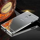 KT Sony Xperia XA2 Ultra Back Cover, Metal Aluminum Frame Bumper Acrylic Mirror Back Case Cover for Sony Xperia XA2 Ultra - Black