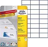 Avery Zweckform 3474-10 Adressetiketten (A4, Papier matt, 240 Etiketten, 70 x 37 mm) 10 Blatt weiß