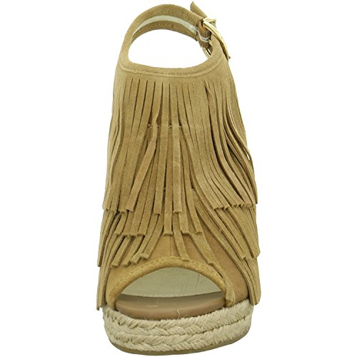 Buffalo London315-2177 COW SUEDE IMI SUEDE - Sandali Donna Marrone (Braun (TAN 01))