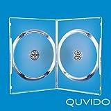 5QUVIDO DVD Gehäuse Ende transparent Doppel 2CDs/DVDs 7