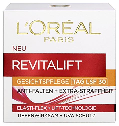 L'Oreal Paris Gesichtscreme Revitalift Anti Falten Feuchtigkeit mit Lichtschutzfaktor UV Schutz LSF 30 50ml