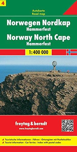 Noruega norte, Cabo Norte, Hammerfest mapa de carreteras. Escala 1:400.000. Freytag & Berndt. (Auto karte)