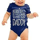 Geboren zu gehen Radfahren mit meinem Papa Babygrow Cute Fahrrad Baby Anzug Wachsen Body Romper Jungen Mädchen Dusche Geschenk
