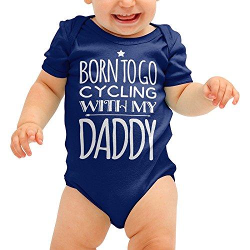 u gehen Radfahren mit Meinem Papa Babygrow Cute Fahrrad Baby Anzug Wachsen Body Romper Jungen Mädchen Dusche Geschenk ()