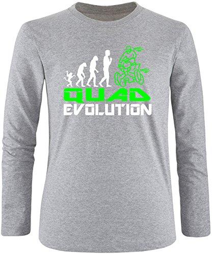 EZYshirt® Quad Evolution Herren Longsleeve Grau/Weiss/Neongr