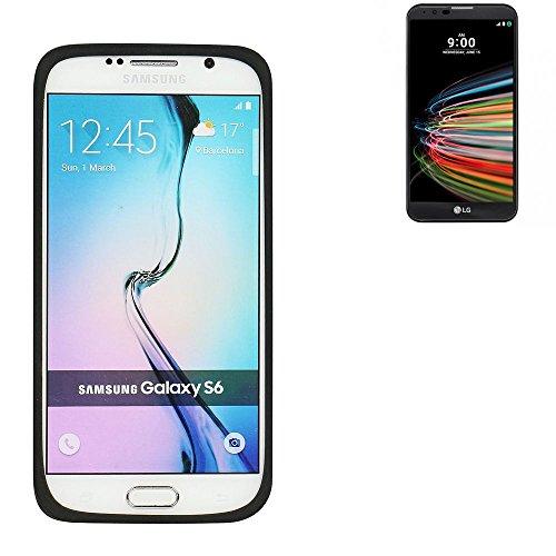 Silikonbumper / Bumper aus TPU für LG Electronics X mach, schwarz | Schutzrahmen Schutzring für Smartphone Case Hülle Schutzhülle - K-S-Trade (TM)