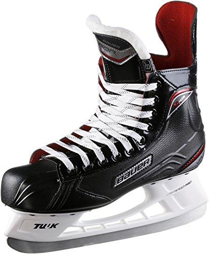 BAUER -  Vapor X400 Senior Eishockeyschlittschuhe für Herren I Herrenschlittschuh I Profi-Schlittschuhe mit Fersen- & Knöchelunterstützung I Mittelfuß-schutz I speziell wärmendes Fußbett - Schwarz (Reebok Senior)