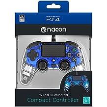Nacon Compact Controller Luminosi, Blu - Classics - PlayStation 4