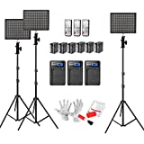 Emgreat® Aputure Amaran HR672KIT 672 Led Video Light Panel Studio Lighting Kit with 2.4G FSK Wireless Remote Control, Battery Pack and Pergear Clean Kit (SSW)