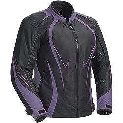 Juicy Trends Señoras Motocicleta Chaqueta Mujer Blindado Impermeable Cordura Textil Moto