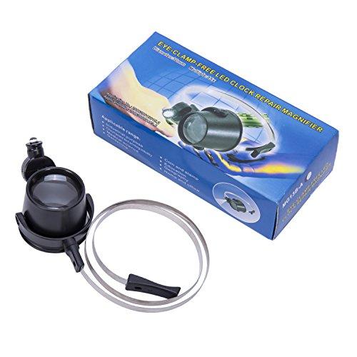 Babimax Lupe Lupebrillen kopftragend handtragend 15 fach 30mm aus Kunststoff und Metall Reparatur von Uhren Antiquitäten Schmuck-Bewertung