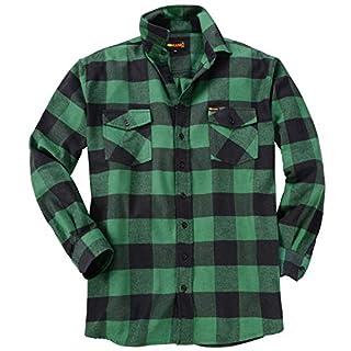 KAMRO Lässiges Holzfällerhemd mit großem Karomuster dunkelgrün_Green 8XL