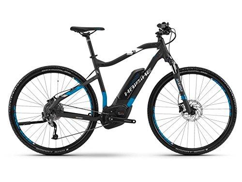 Haibike SDURO Cross 5.0 Herren E-Bike 500Wh E-Mountainbike schwarz/blau/weiß matt