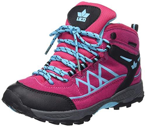 Lico Mädchen Griffin High Trekking-& Wanderstiefel, Pink/Schwarz/Türkis, 27 EU
