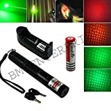 #7: 1000MW RECHARGEABLE HIGH POWER GREEN LASER POINTER BEAM WITH STYLISH DISCO LIGHT