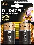 Duracell Plus Power Type D Alkaline Batteries, Pack of 2