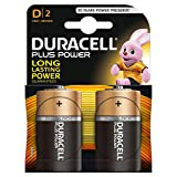 Duracell Plus Power Typ D Alkaline Batterien, 2er Pack
