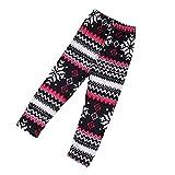 Kingko® Kids Girls Christmas Snowflake Reindeer Leggings Skinny Pencil Pant Trousers (1-3 years)