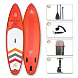 SEAPLUS Tabla de Paddle Surf Hinchable Sup Inflatable Stand up Paddle Board 10'8 LB-R 10'8'*32'*6' con Inflador/Remo/Mochila/Leash/Fin,Carga hasta 130 Kg