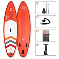 "SEAPLUS Tabla de Paddle Surf Hinchable Sup Inflatable Stand up Paddle Board 10'8 LB-R 10'8""*32""*6"" con Inflador/Remo/Mochila/Leash/Fin,Carga hasta 130 Kg"