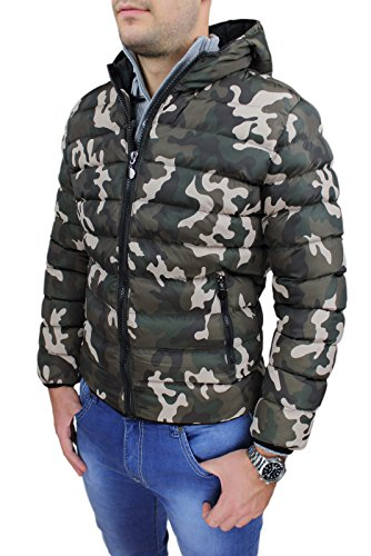 100% authentic 6d1ae 8aa75 Giubbotto piumino uomo verde militare camouflage mimetico ...