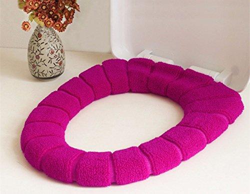 Spessore elastico square-o-autunno/inverno u-universale sedile di gabinetto cuscino imbottito sedile di gabinetto pad seduta wc imposta,viola spessa