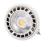sourcing map Weiß 85-265V 35W 6000K LED Birnen Scheinwerfer Lampe für Innen Beleuchtung