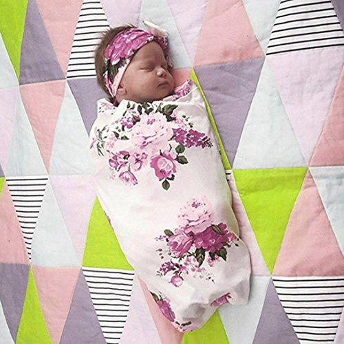 Xshuai Für 0-3 Monate 81 * 81 cm Infant Baby Floral Weiche Wickeldecke Schlafen Musselin Wrap (Weiß, 0-3 Monate) (Kleinkind Rocker Kostüme)