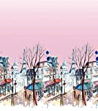Soimoi Rosa Kreppseide Stoff Straßenlaterne & Haus Platte