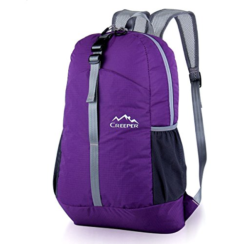 Outdoor Klein Rucksack Leicht Faltbar Sport Tasche Purple