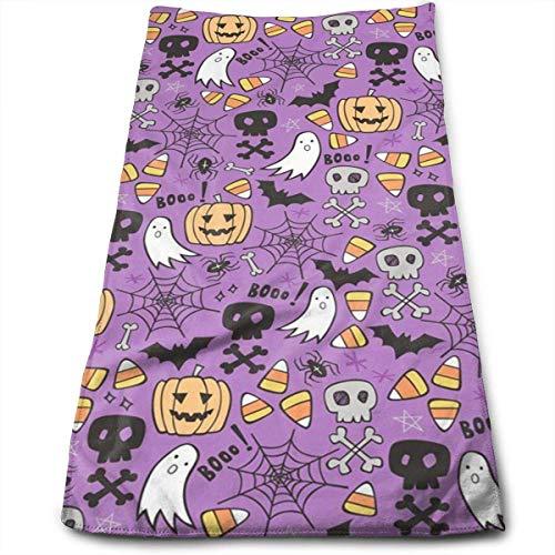 ewtretr Handtücher, Halloween Doodle with Skulls Bat Microfiber Beach Towel Large & Oversized - 11.8