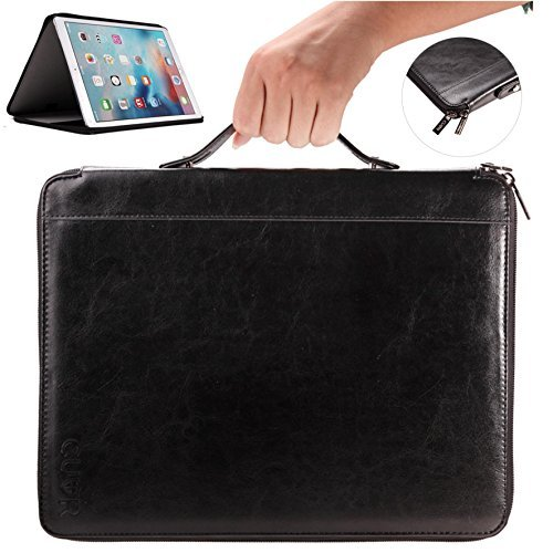 ipad-pro-case-with-handle-for-easy-carrying-by-cuvr-in-black-smart-kick-stand-zipper-bag-vegan-leath