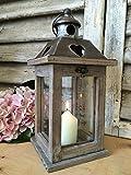 Titular de madera y metal linterna luz del té de la vela de la vendimia decoración de la boda del jardín